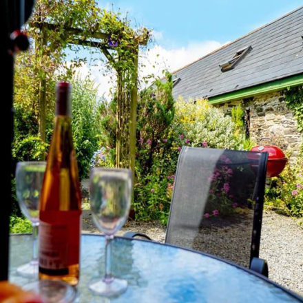 Doyle's Private Patio Garden Warren Farm Cottages