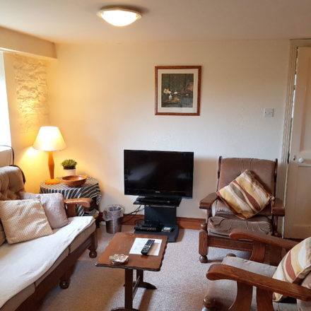 Granary self-catering country cottage lounge