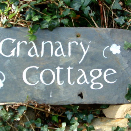 Granary Self Catering Cottage Sign
