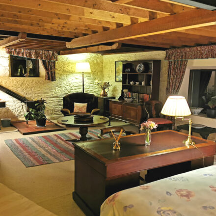 Granary Cottage Master Bedroom at Night